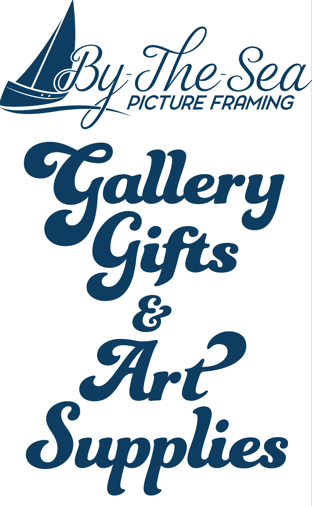 By the Sea Picture Framing and Art Supplies - Logo
