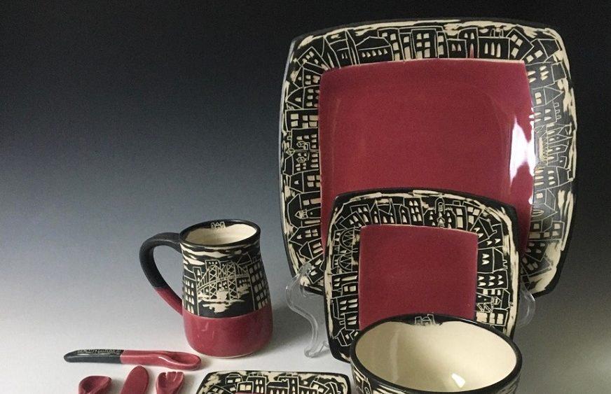 maru-pottery-cityscape-rasberry-red-set-ceramics-maria-guevara